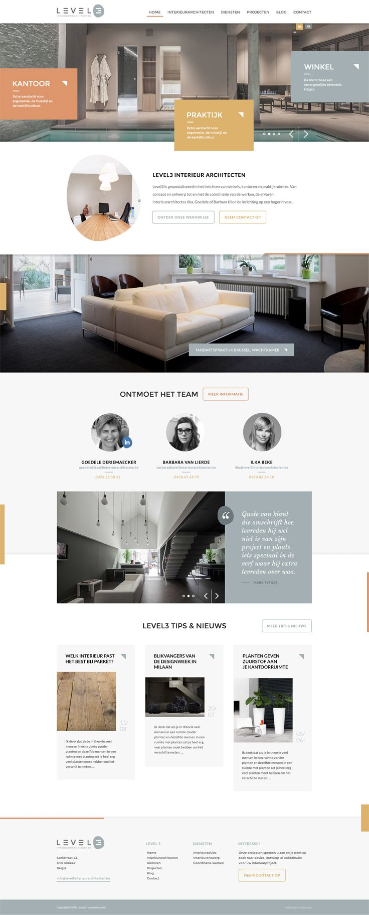 Website for Level3 interior architects - Designed by Weblounge…