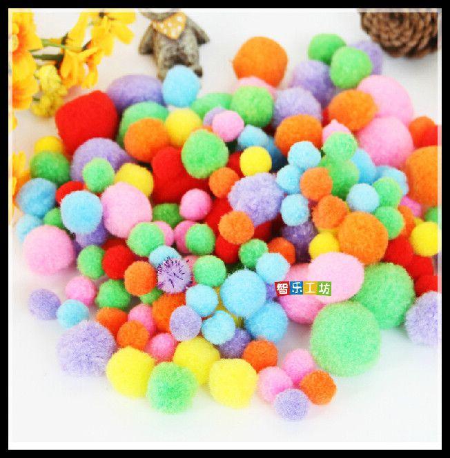 10 мм   50 мм многоцветный Pompoms пом   пом детский сад DIY художественного промысла материалы для творчества дети раннего образованиякупить в магазине YingXuan Toys Retails & WholesaleнаAliExpress