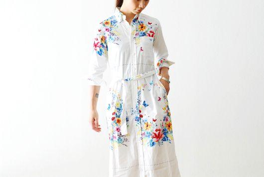 "[ladie's]FWK by Engineered Garments(エフダブリューケイ バイ エンジニアードガーメンツ) ""BD Long Dress - Multi Color Floral Print"""