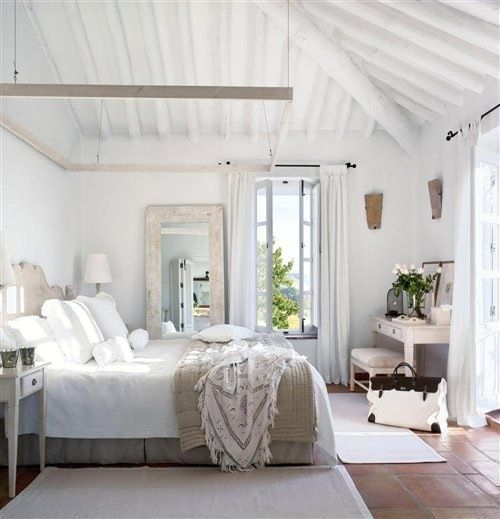Beach House Shabby Chic White Rustic Bedroom Bedroom