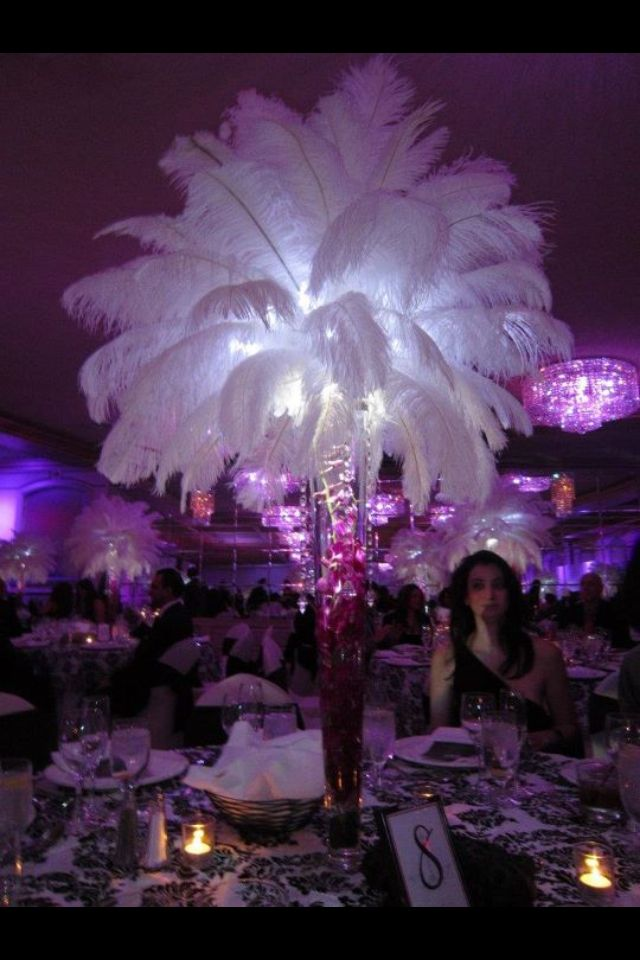 Sweet 16 Table Decoration Ideas bridal shower centerpiece bar mitzvah centerpiece sweet 16 centerpiece Masquerade Centerpieces For Sweet 16 Blue And Purple Centerpieces For Sweet 16 Ostrich Feather Centerpiece