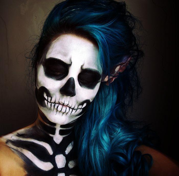 19 best t te de mort images on pinterest make up costumes and halloween makeup. Black Bedroom Furniture Sets. Home Design Ideas