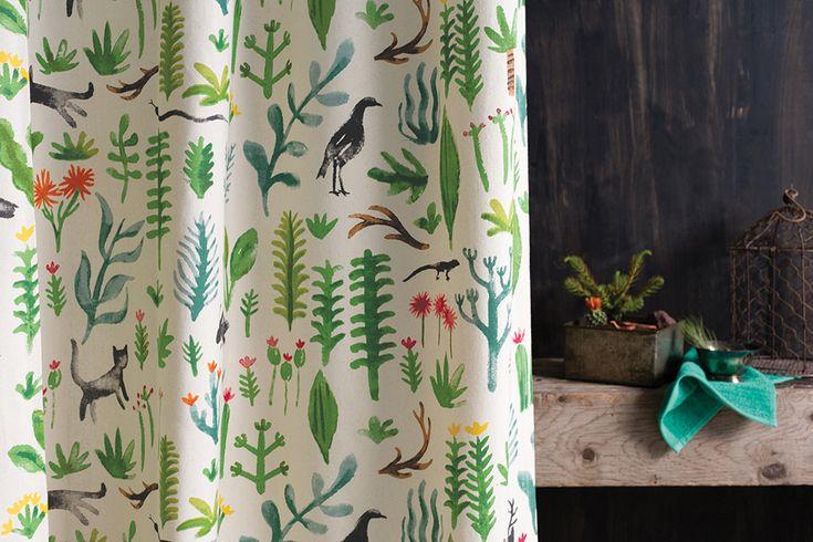 secret garden shower curtain   Danica Studio