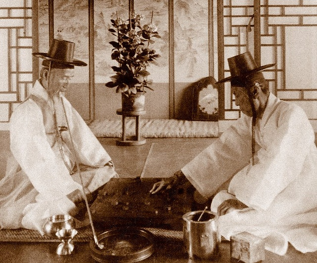 OLD KOREA - LAND OF THE MORNING CALM -- Two High-Class Gentlemen Killing…