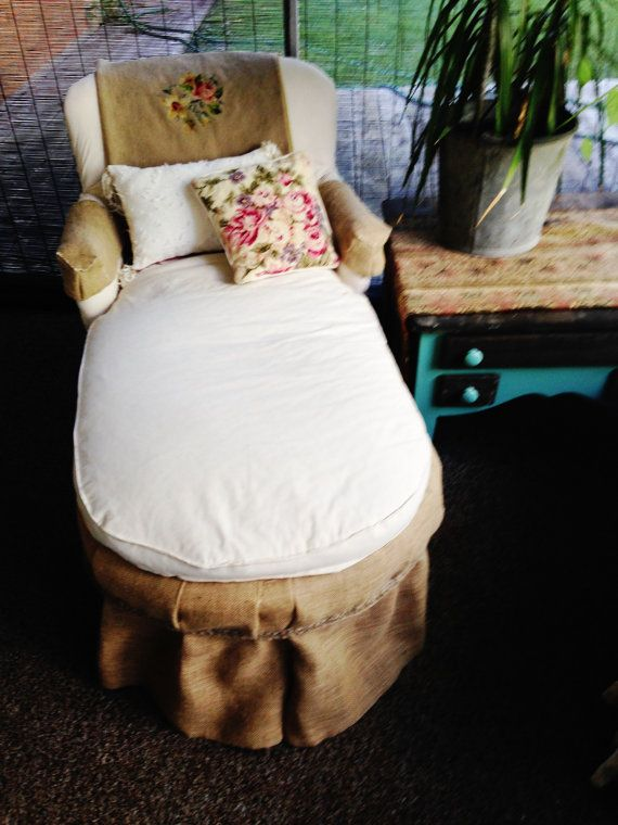 Antique petite chaise lounge by antique2chic on etsy for Big and tall chaise lounge