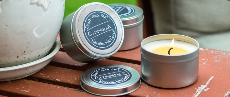 DIY Citronella Candles: Don't let pesky mosquitoes ruin your summer fun. Make your own Citronella Candles to help keep your outdoor area a bug fr