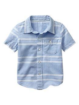 Stripe chambray shirt for baby / toddler | Gap