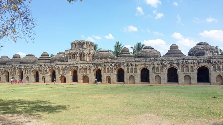 Elephant stables in Hampi - view from the entrance