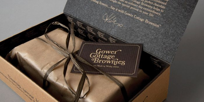 Gower CottageBrownies - The Dieline - this looks very good, I could dig those brownies :)