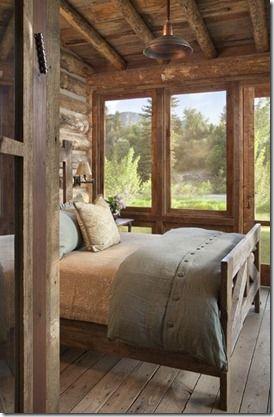 Pretty rustic western bedroom