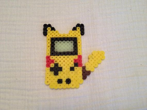 Listed is a Pikachu Perler Bead sprite based of the Game Boy Color (its screen also glows in the dark).  If you would like to order anything custom,