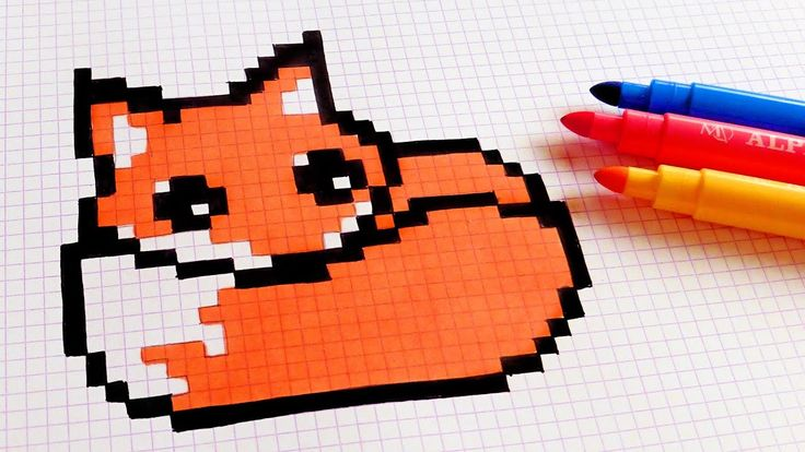 Handmade Pixel Art - How To Draw Kawaii Fox #pixelart