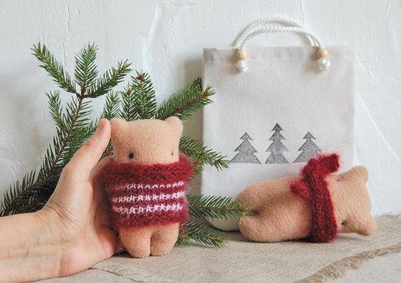 Christmas toys Best friend Gift Bear plush toy by IrinaMargarita
