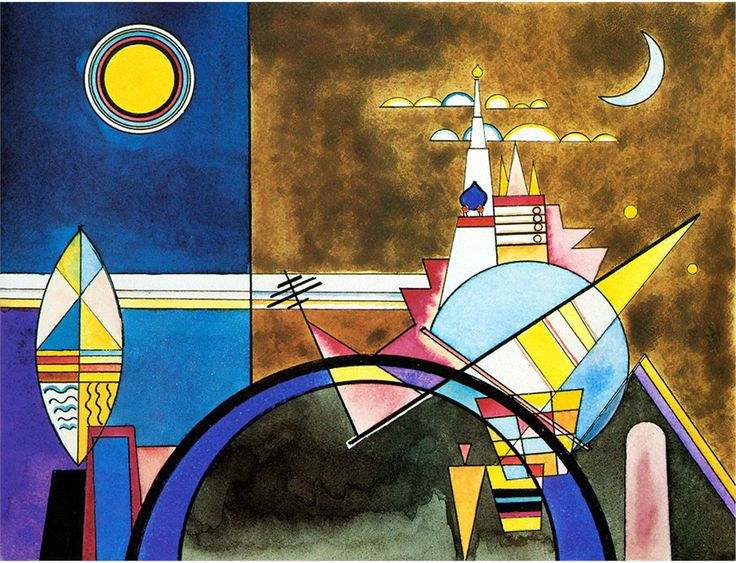Wassily Kandinsky - Picture XVI, The Great Gate of Kiev. Stage set for Mussorgsky's Pictures at an Exhibition in Friedrich Theater, Dessau., 1928