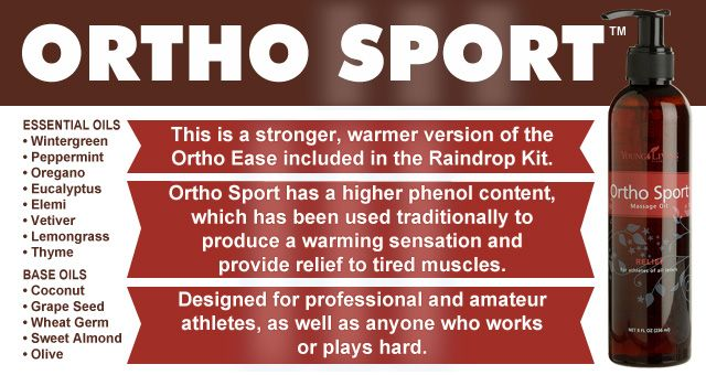 #OrthoSport from #YoungLiving #EssentialOils