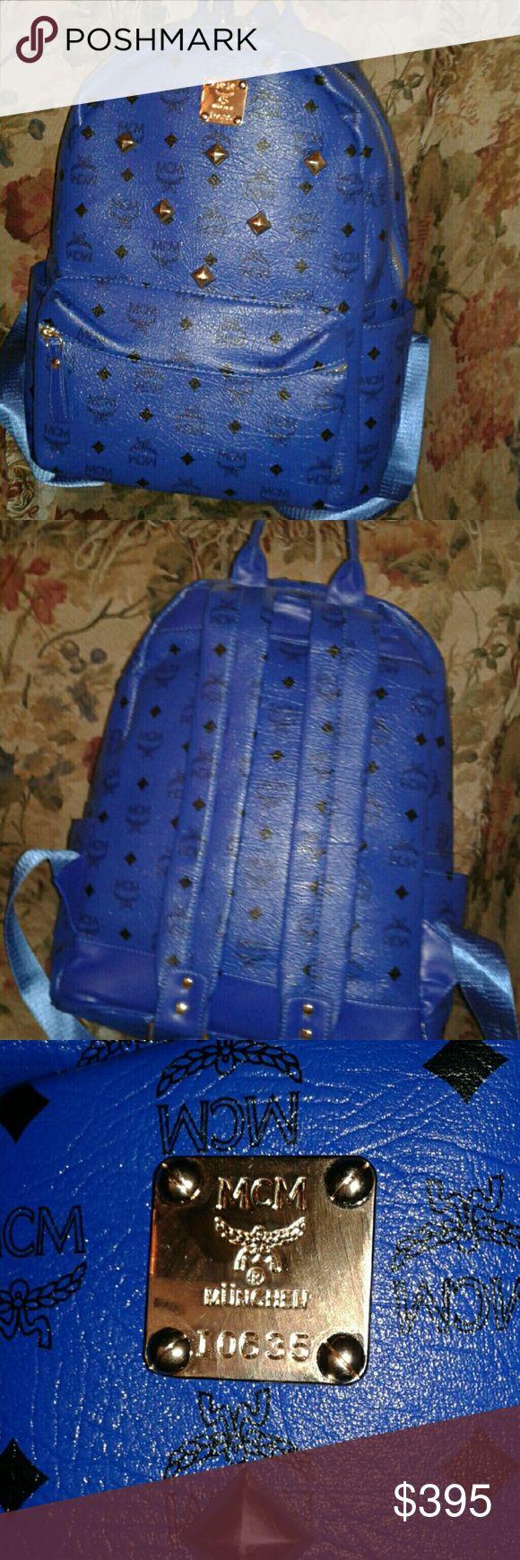 MCM bookbag real and blue MCM Bags Backpacks