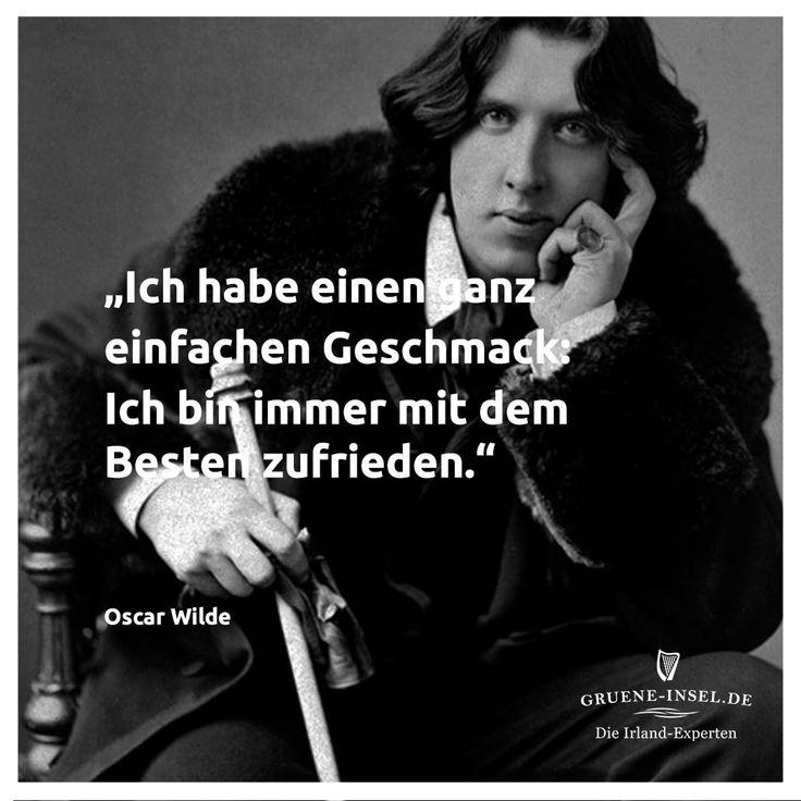 Oscar Wilde ist bekannt für seine gewitzten Sinnsprüche ...