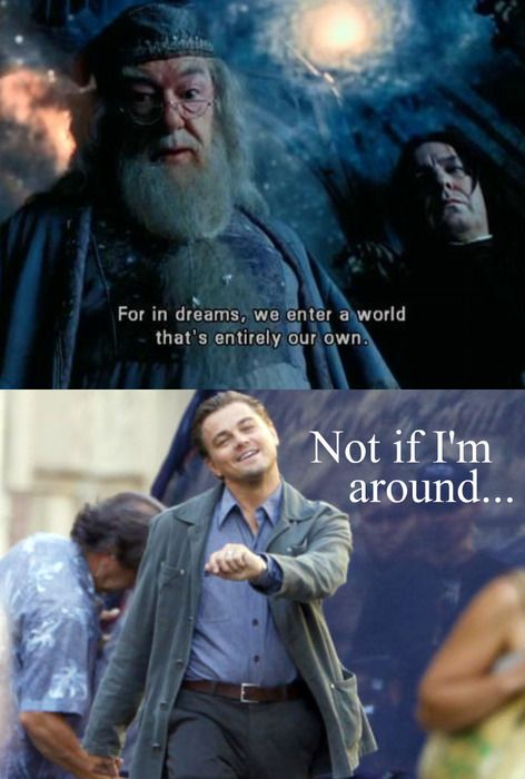 Harry Potter Inception Mash-UP (also, can I just say that I thought that line was one of the cheesiest in the entire HP franchise. Geez!)