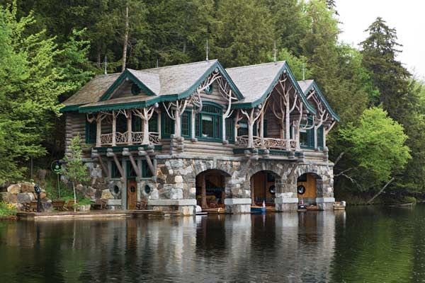Camp topridge boat house upstate new york adirondacks for Adirondack cabin builders