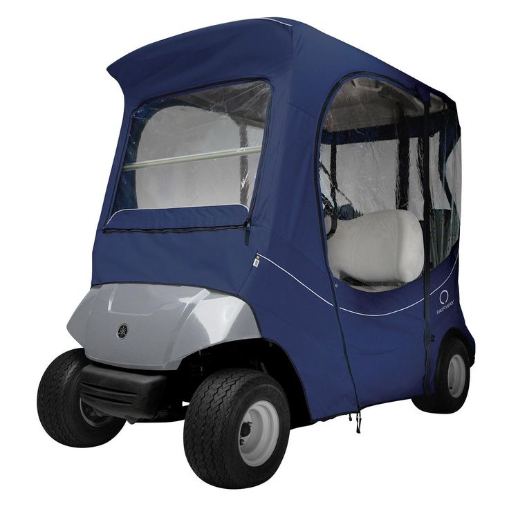 Classic Fairway FadeSafe Yamaha Golf Cart Enclosure-Navy