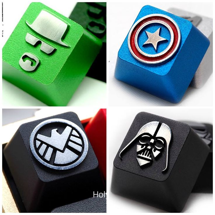 Your fandoms are always at the tips of your fingers. Custom mechanical keyboard keys by HolyOOPS at Geek Keys: http://j.mp/1BJW6fh