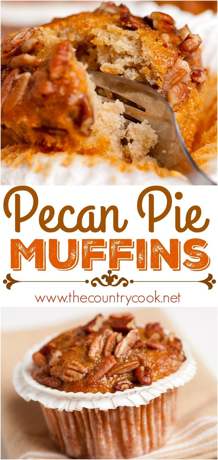 Southern Pecan Pie Muffins from The Country Cook