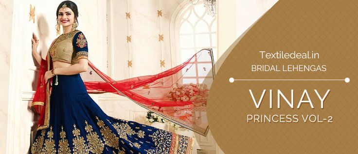Shop Now Vinay Princess Vol -2 Awesome Bridal Lehengas Catalogs Collection at Best Rate from @Textiledeals