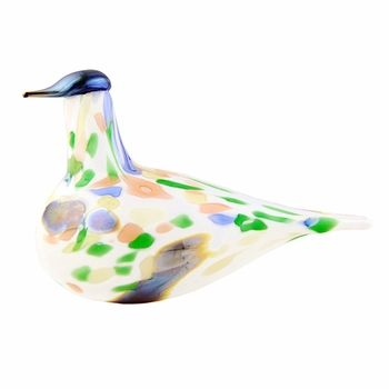 While some of Oiva Toikka's annual birds are artistic depictions of true species, others are hatched solely from his infinite imagination; this colorful creation is a stunning example of the latter. iittala Toikka Alder Thrush 2014 Annual Bird - $295