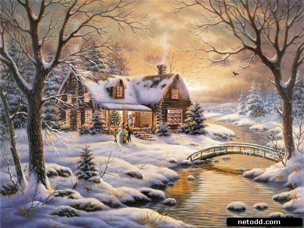 Christmas landscape by Nicky Boehme