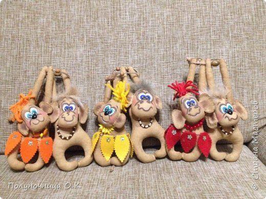Куклы Новый год Шитьё И снова они  обезьяны Ткань фото 4