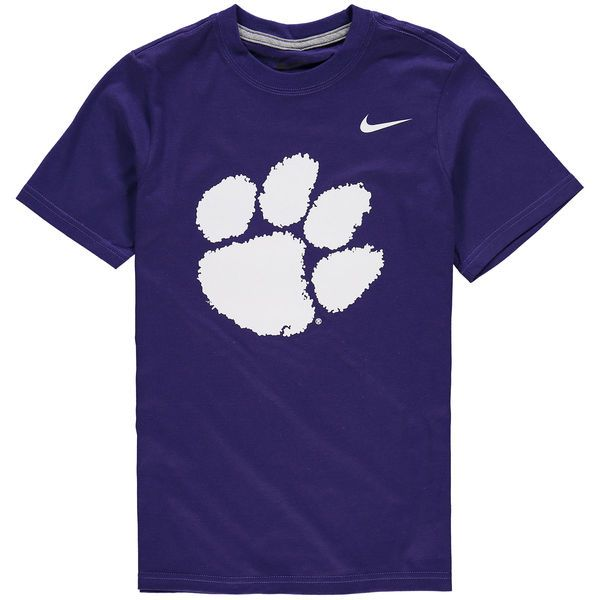 Clemson Tigers Nike Youth Cotton Logo T-Shirt - Purple - $21.99