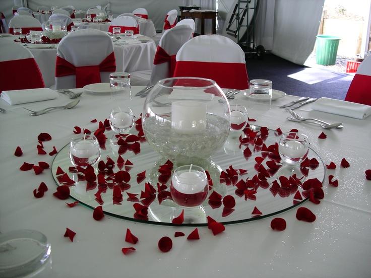 #mirror #red #weddingcentrepiece