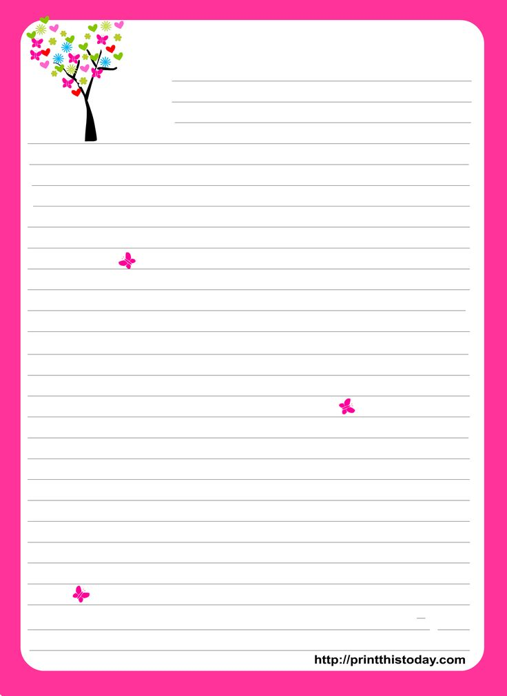 cute printable notebook paper - free download