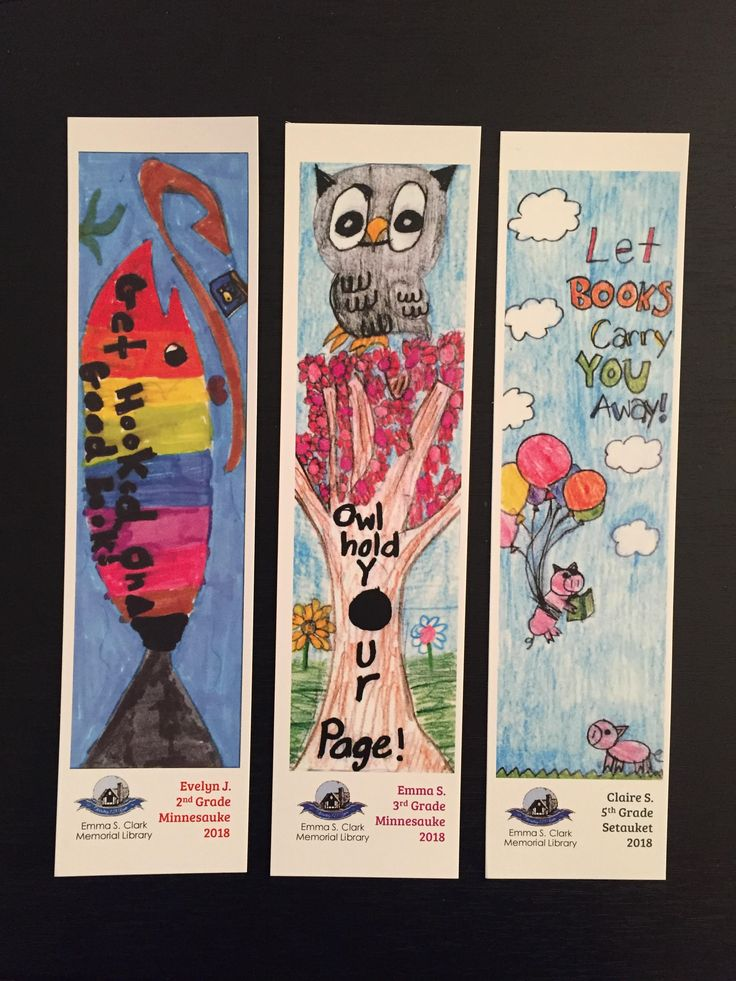 Winners of our 3rd Annual Bookmark Contest! Clark, Emma