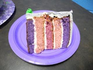 the inside of a Disney's Rapunzel cake