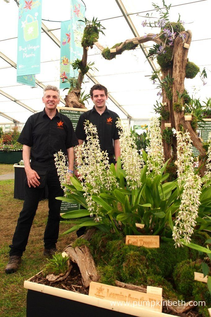 Simon Pugh-Jones and Jacob Coles from the Writhlington Orchid Project, pictured…