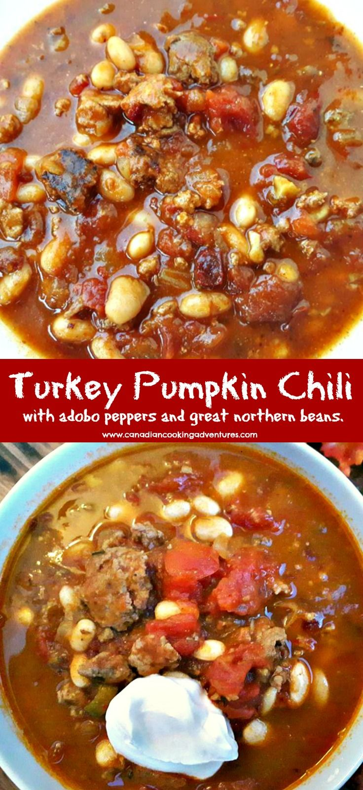 The colder weather calls for cozy food, and what better way to warm up then with a hot bowl of Turkey Pumpkin Chili.The pumpkin puree helps to create a creamy satisfying texture and warms the soul. Now thisis not a sweet chili like some may think, and that is because we are adding green chiles,...