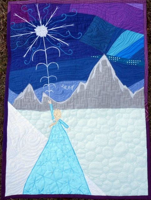 "Quilty Habit: ""Let It Go"": A Frozen Mini Quilt"