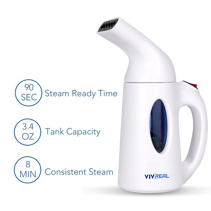 Clothes Steamer - Handheld Garment Steamer with 3.4Oz Capacity for Home & Travel Ideal for Clothes, Curtains, Carpets - Powerful Garment Steamer for Clothes Portable Fabric Travel Steamer