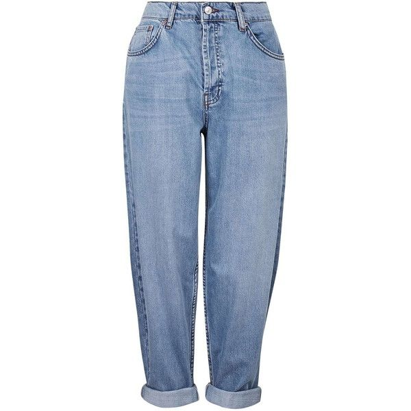 TOPSHOP MOTO Oversized Boyfriend Jeans ($61) ❤ liked on Polyvore featuring jeans, bottoms, pants, boyfriend jeans, trousers, mid stone, slouchy jeans, blue jeans, saggy jeans and slouch jeans