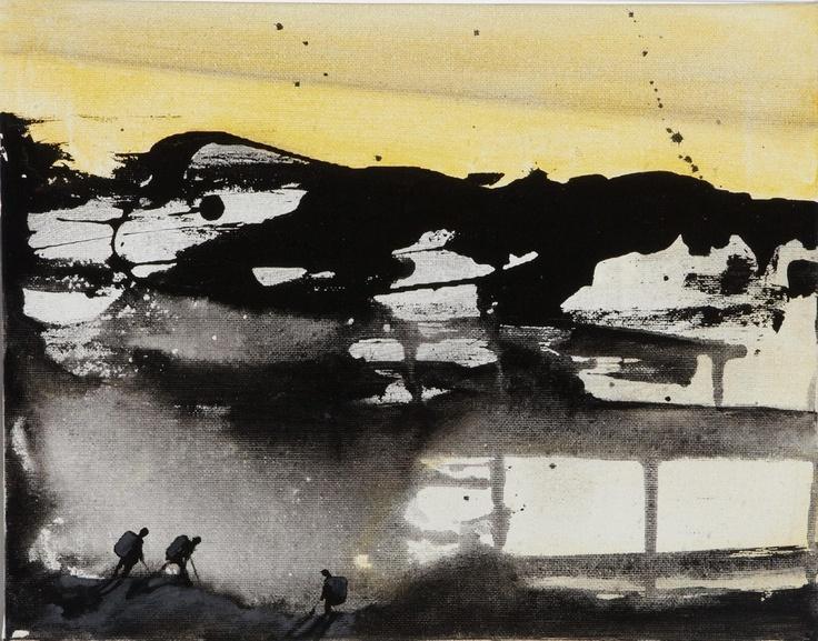 Marcus Jansen - The Hike  Acrylics on canvas