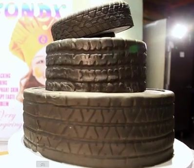 Must See: Tire Cake For Father's Day - Foodista.com