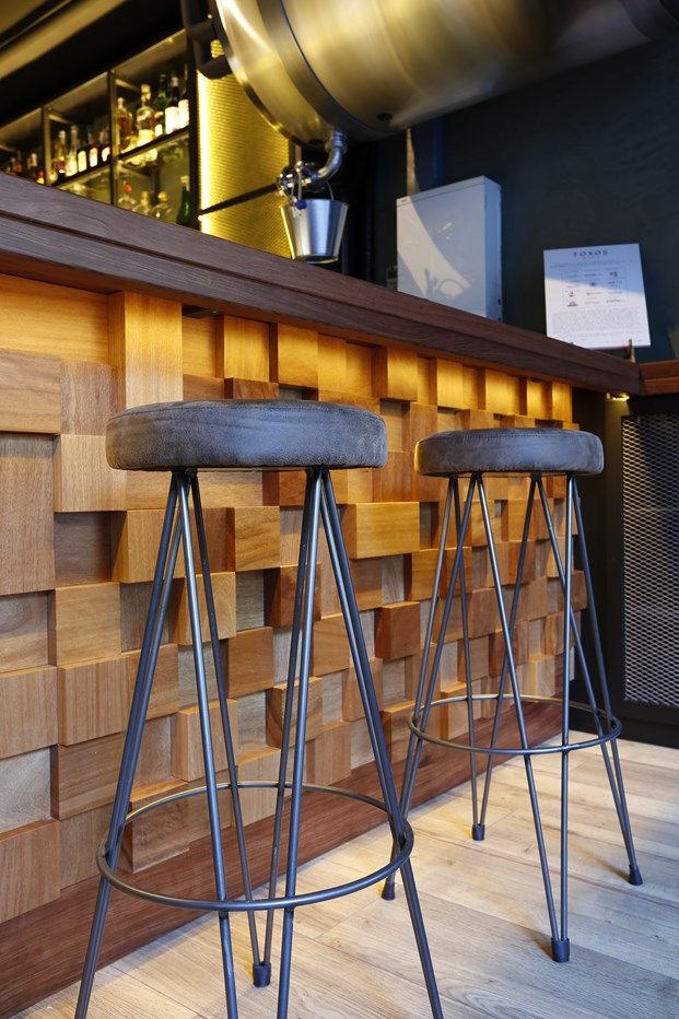 Wood Block Reception Desk.