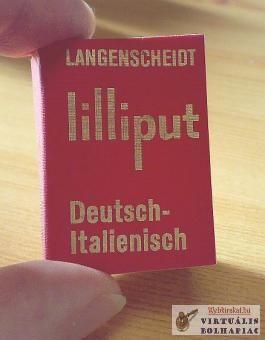 olasz, német, szótár, mini, minikönyv, miniatűr, kéziszótár, 1964.