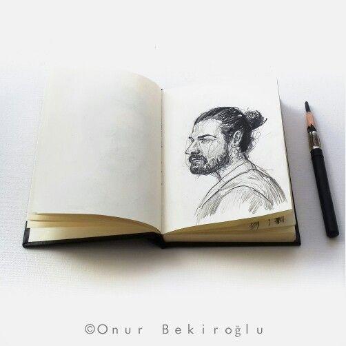 #skechbook 5-minute portrait series.To be continued. @onurbekiroglu