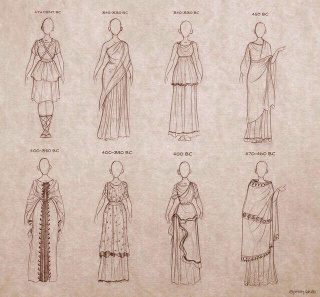 Dress shape inspiration for Hermia and Helena