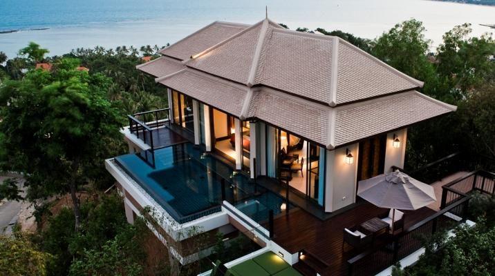 Hillcrest pool villa på Banyan Tree Samui