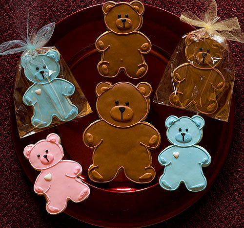 Teddy Bear Decorated Sugar Cookies