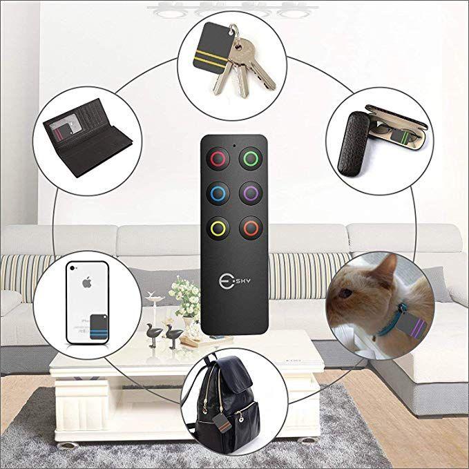RF Item LocatorSuppor... Schlüsselfinder Wireless Key Finder mit 6 Empfängern