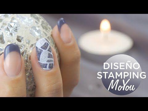 Uñas esmalte permanente y stamping MoYou | Manicura24 - YouTube